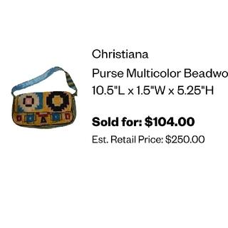 Christiana purse ビーズ ハンドバッグ(ハンドバッグ)