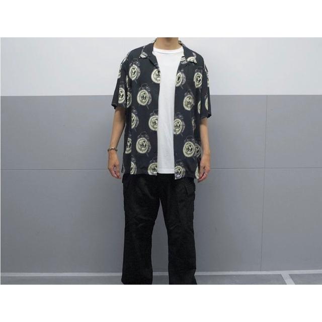 GDC(ジーディーシー)の希少 XL wastedyouth アロハシャツ 黒 柄シャツ verdy メンズのトップス(シャツ)の商品写真