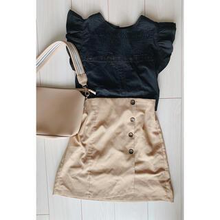 オリーブデオリーブ(OLIVEdesOLIVE)のベージュのミニスカート(ミニスカート)