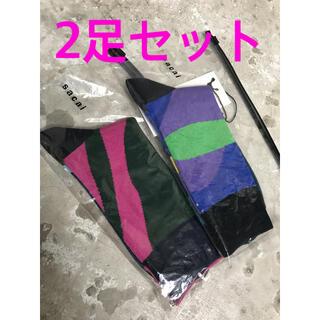 sacai - 2足セット sacai × KAWS サカイ カウズ ソックス 靴下  3サイズ