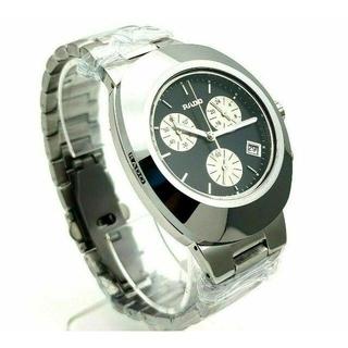 ラドー(RADO)の美品 洗練☆ヴィンテージ ラドーディアスター クロノグラフ シルバーメンズ腕時計(腕時計(アナログ))