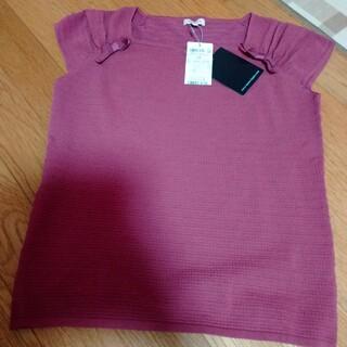 トッカ(TOCCA)のトッカ TOCCA リボン トップス ピンク フリーサイズ(カットソー(半袖/袖なし))
