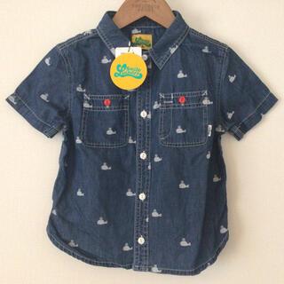 LAUNDRY - 新品タグ付 ランドリー キッズ クジラ柄 半袖 ダンガリーシャツ ブルーL