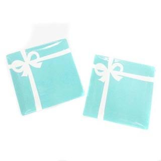 Tiffany & Co. - ティファニー ブルー ボックス リボン プレート 2枚セット ブルー 水色 白