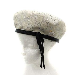 Gucci - グッチ 21SS GGラメ ベレーハット 帽子 L 58cm アイボリー