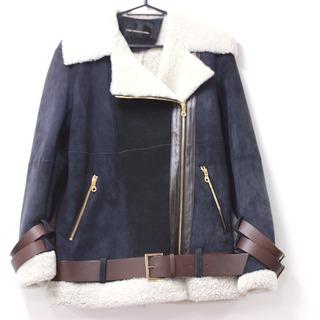 ダブルスタンダードクロージング(DOUBLE STANDARD CLOTHING)の新品同様 ダブルスタンダードクロージング ベルト付き ライダースジャケット(ライダースジャケット)