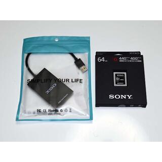 SONY - 日本製 XQDカード QD-G64F カードリーダー付属 64GB