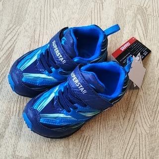 ムーンスター(MOONSTAR )の美品 バネのチカラ ムーンスター 靴 キッズ スニーカー 15センチ 15cm (スニーカー)