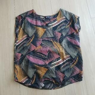 サンタモニカ(Santa Monica)の古着 シルクノースリーブトップス(シャツ/ブラウス(半袖/袖なし))
