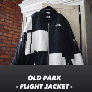 ザノースフェイス(THE NORTH FACE)の希少 OLDPARK×North Face FLIGHT JACKET 白黒(ブルゾン)