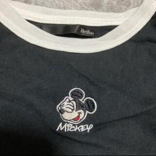 ヘザー(heather)のミッキーコラボTシャツ(Tシャツ(半袖/袖なし))