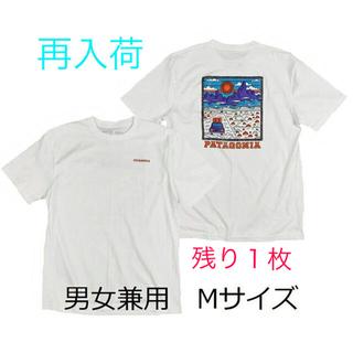 patagonia - パタゴニアTシャツ サミットロード 白 かわいいPOP M アウトドア