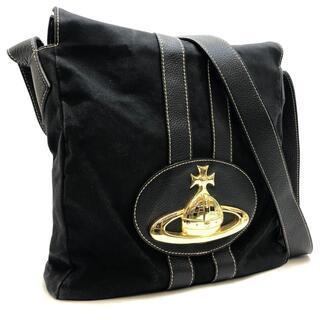 ヴィヴィアンウエストウッド(Vivienne Westwood)のヴィヴィアンウエストウッド ショルダーバッグ オーブ ロゴ キャンバス ブラック(ショルダーバッグ)