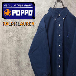 Ralph Lauren - ラルフローレン☆ワンポイント刺繍ロゴポケットチノボタンダウンシャツ 90s