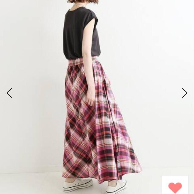 IENA(イエナ)のイエナ チェックギャザースカート 2021 新品 レディースのスカート(ロングスカート)の商品写真