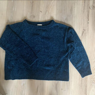 ジーユー(GU)のGU ブルー ニット セーター(ニット/セーター)