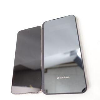 エルジーエレクトロニクス(LG Electronics)のLG V60スマートフォン/ケース ブルー/ブラック(スマートフォン本体)