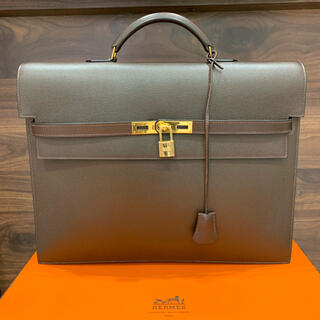 Hermes - 逸品・極美 定価132万 エルメス ケリーデペッシュ38 ブラウン GLD金具