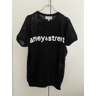 AMERICANA - アメリカーナ メッシュ半袖Tシャツ 黒 americana