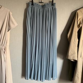 GRL - GRL プリーツロングスカート くすみブルー