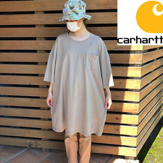 carhartt - 【◆ビッグ&ロングサイズ◆】カーハート 半袖Tシャツ ベージュ メンズ3XLT