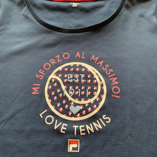 FILA(フィラ)の【美品✨】フィラ FILA レディース テニスウェア ゲームシャツ  スポーツ/アウトドアのテニス(ウェア)の商品写真