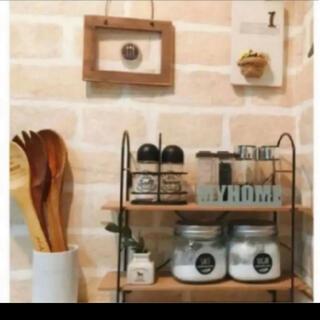 フランフラン(Francfranc)の調味料ラック 調味料スタンド スパイスラック ウッドシェルフ(収納/キッチン雑貨)