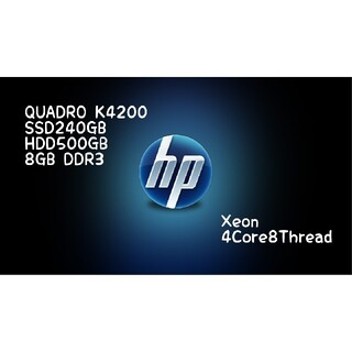 ヒューレットパッカード(HP)のZ400⑤HP K4200 レンダリング 動画、画像編集 3DCAD(デスクトップ型PC)