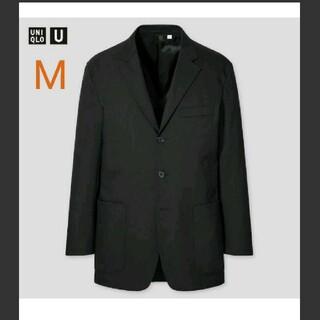 UNIQLO - ユニクロ リラックスフィットテーラードジャケット ブラック M メンズ