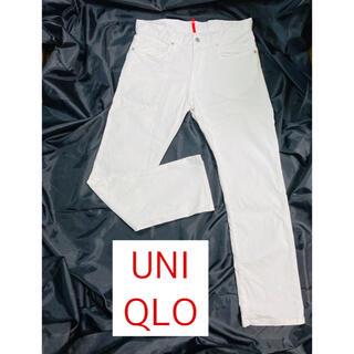 ユニクロ(UNIQLO)のユニクロジーンズ UJ ホワイトデニムパンツ 白 メンズ レディース (デニム/ジーンズ)