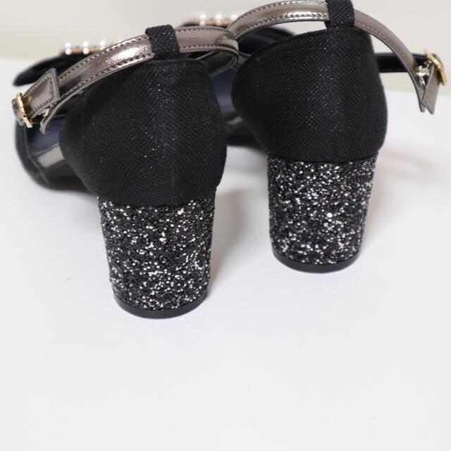 ESPERANZA(エスペランサ)のenpunto  ビジューリボン❤︎ヒールきらきらパンプス レディースの靴/シューズ(ハイヒール/パンプス)の商品写真