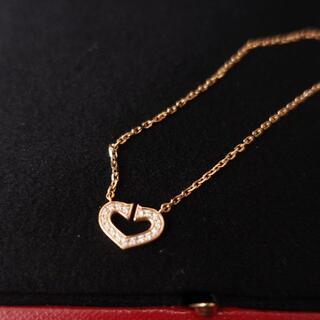 Cartier - Cartier Cハートネックレス レディース イエローゴールド