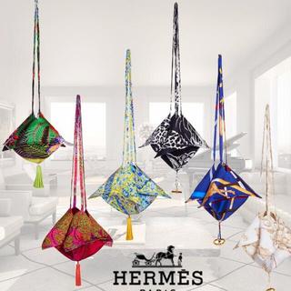 エルメス(Hermes)のHERMES♡国内未販売プティアッシュ♡シルクバッグ(ショルダーバッグ)