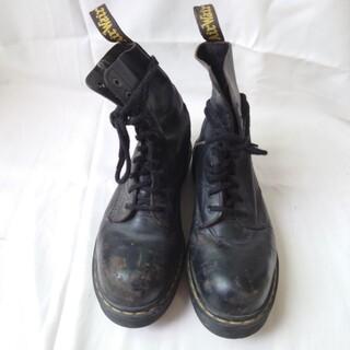 ドクターマーチン(Dr.Martens)のドクターマーチン スチール 10ホール ブーツ イングランド製 黒 レザー(ブーツ)
