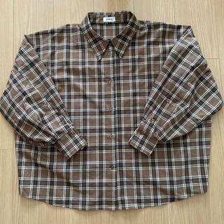 エヴリス(EVRIS)の美品EVRIS チェックBackデザイン BIGシャツ(シャツ/ブラウス(長袖/七分))