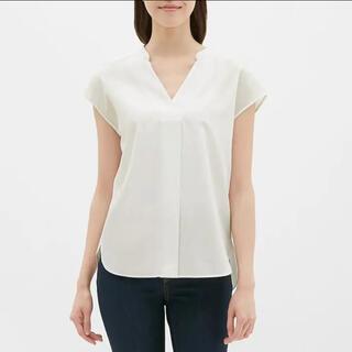 GU - ジーユー スキッパーシャツ S ホワイト