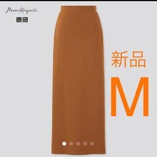 UNIQLO - ブラウンMサイズ   エアリズムコットンスリット スカート