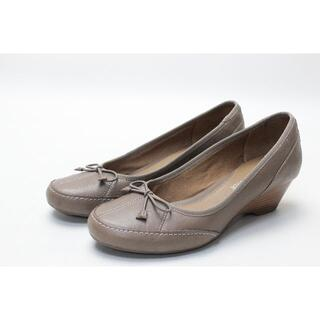 クラークス(Clarks)の73■clarks softwear 本革リボンパンプス(23.5cm)美品(ハイヒール/パンプス)