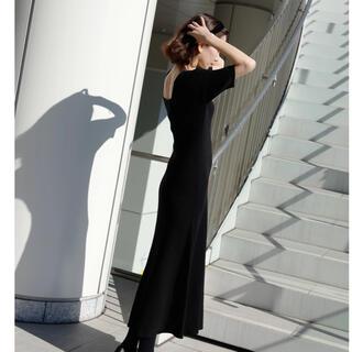 rienda - シスリス♡square neck line dress