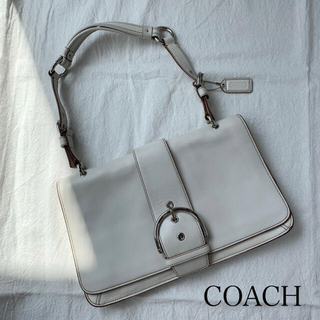 コーチ(COACH)の値下げ❗️COACH SOHO レザーショルダーバッグ オフホワイト(ショルダーバッグ)