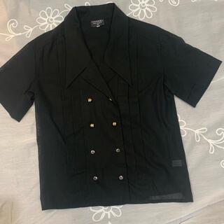 シャネル(CHANEL)のCHANEL シャツブラウス 38  cotton  (シャツ/ブラウス(半袖/袖なし))