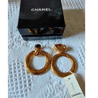 シャネル(CHANEL)のシャネル マトラッセ イヤリング フープ サークル ゴールド CHANEL(イヤリング)