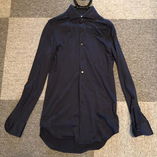 スーツカンパニー(THE SUIT COMPANY)のWE SUIT YOU  ワイシャツ ウールジャージー ネイビー メリノウール(シャツ)