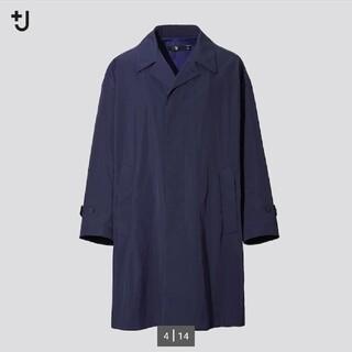 UNIQLO - +j オーバーサイズステンカラーコート ネイビー メンズSサイズ