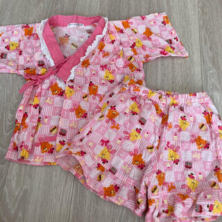 シマムラ(しまむら)のルルロロ 甚平 ピンク 100(甚平/浴衣)