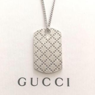 Gucci - GUCCIネックレス トップ/社外ステンレス喜平チェーン