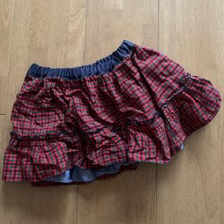 ファミリア(familiar)のファミリア familiar スカート チェック 女の子 90 美品(スカート)