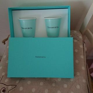 ティファニー(Tiffany & Co.)の【新品未使用品】ティファニー  ボーンチャイナ ペーパー カップ   2個セット(食器)