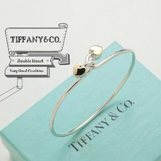 Tiffany & Co. - 新品仕上げ ティファニー ダブル ハート 925 × 750 バングル