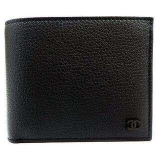 シャネル(CHANEL)のシャネル ラムスキン ニつ折り財布 ブラック AP1089 【即納】(折り財布)